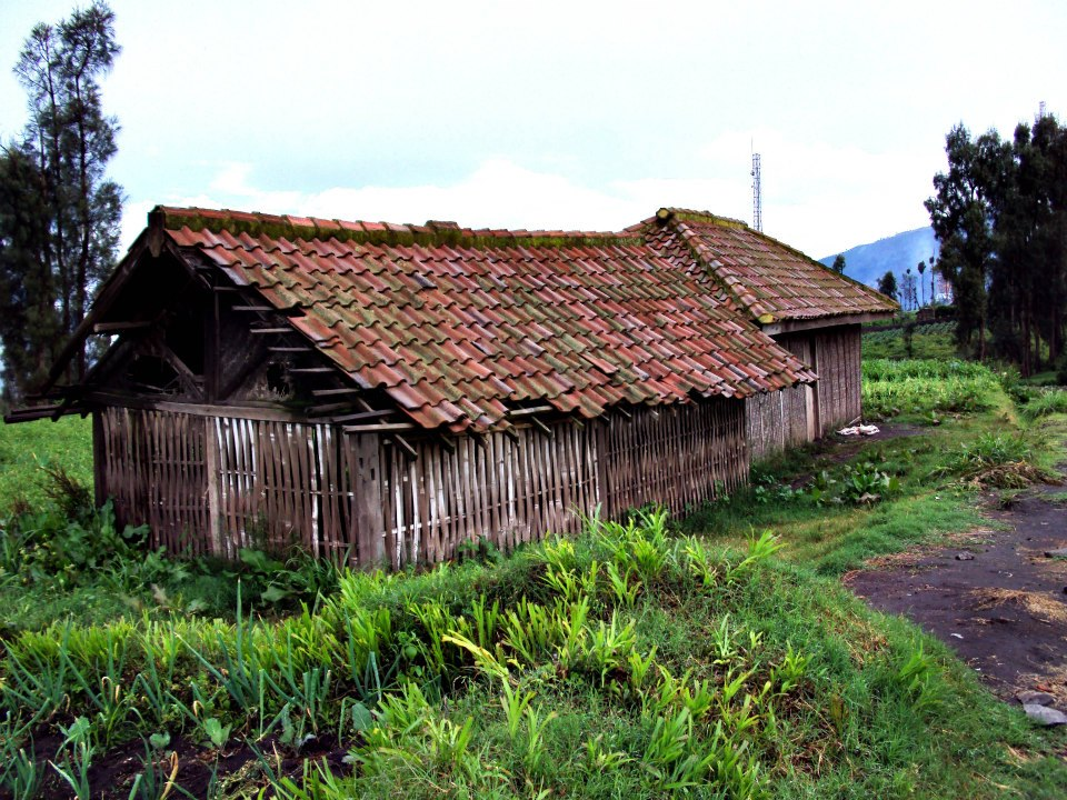 The hut where the villager invited us for shelter against the thunderstorm