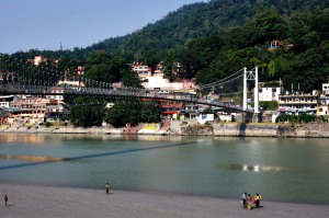 Ram Jhula Bridge from room balcony