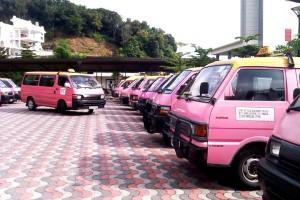 Pangkor's Pink Taxis