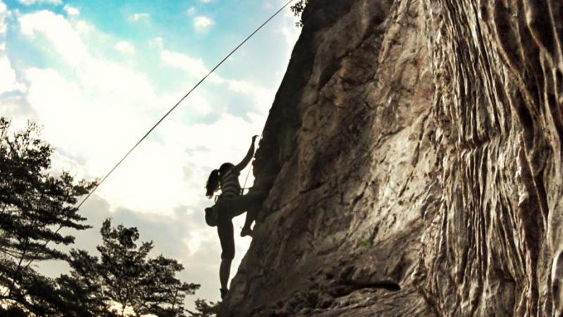 Rockclimbing At BatuCaves