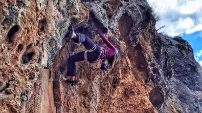 Rockclimbing In Queuñas, Peru