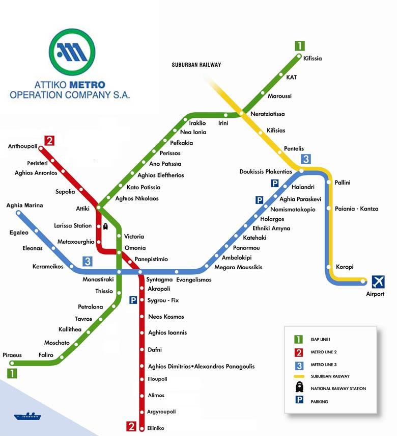athens-metro-map
